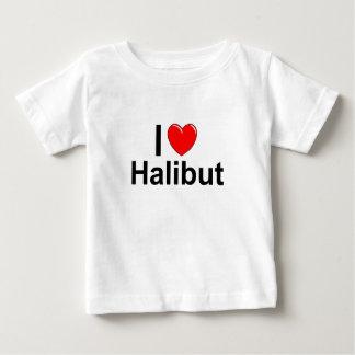 Camiseta De Bebé Amo el halibut del corazón
