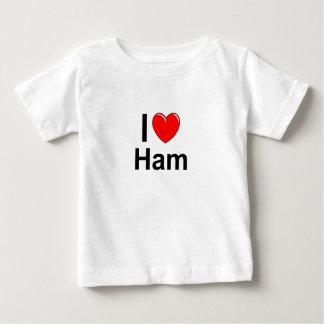 Camiseta De Bebé Amo el jamón del corazón