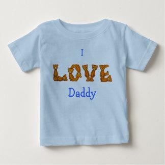 Camiseta De Bebé Amo la letra del alfabeto del oso de Shirt~Teddy