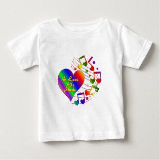 Camiseta De Bebé Amo la música 90s