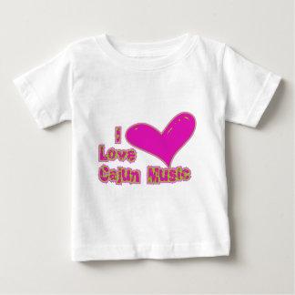 Camiseta De Bebé Amo la música de Cajun