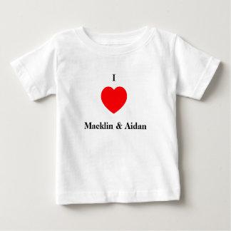 Camiseta De Bebé Amo Macklin y a Aidan