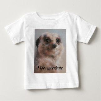 Camiseta De Bebé Amo meerkats