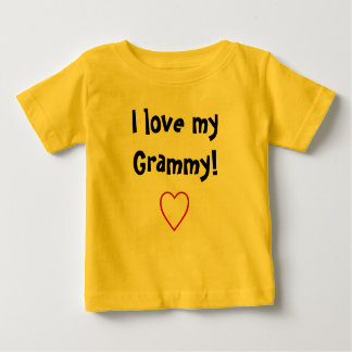 Camiseta De Bebé Amo mi Grammy
