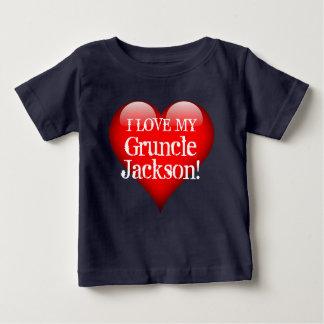 """Camiseta De Bebé """"Amo mi Gruncle (el nombre)!"""" con el corazón rojo"""