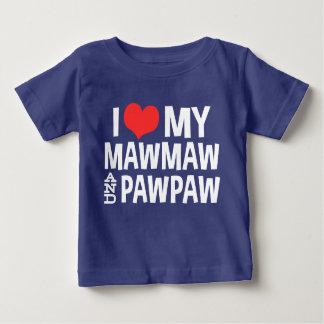Camiseta De Bebé Amo mi MawMaw y papaya