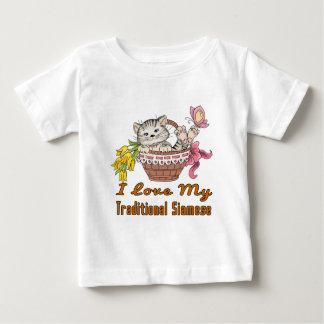 Camiseta De Bebé Amo mi siamés tradicional