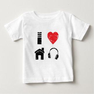 Camiseta De Bebé Amo música de la casa