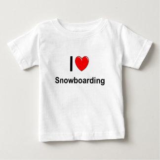 Camiseta De Bebé Amo snowboard del corazón