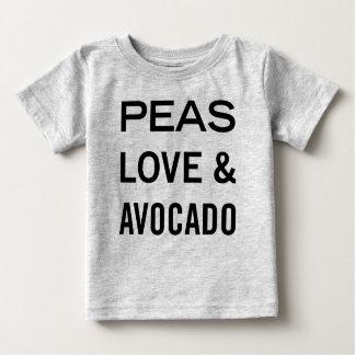 Camiseta De Bebé Amor de los guisantes y retruécano de la comida
