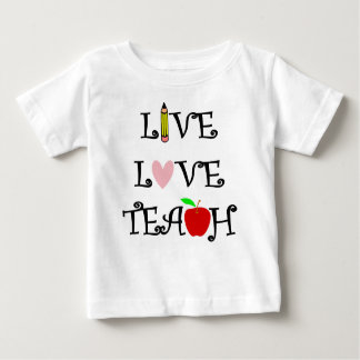Camiseta De Bebé amor vivo teach3