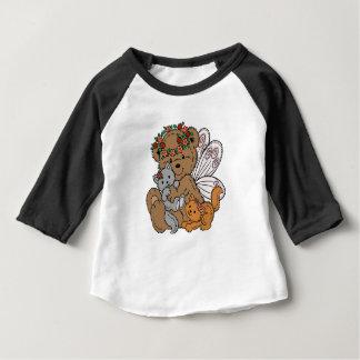 Camiseta De Bebé Ángel del oso con los gatitos