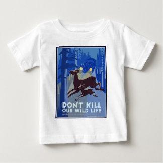 Camiseta De Bebé Animal de la fauna del vintage