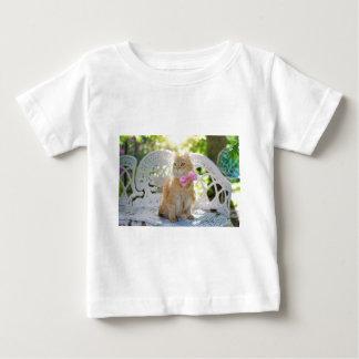 Camiseta De Bebé Animal de mascota felino de la sol del verano del