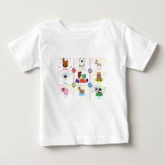 Camiseta De Bebé Animales del campo