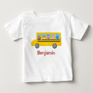 Camiseta De Bebé Animales lindos en el nombre personalizado el |