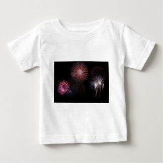 Camiseta De Bebé Año Nuevo del navidad de los fuegos artificiales