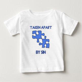 Camiseta De Bebé Aparte por pecado hizo entero con dios