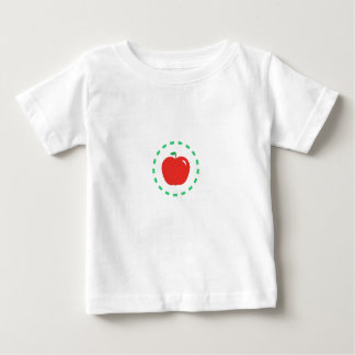 Camiseta De Bebé Apple rojo