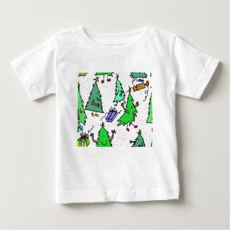 Camiseta De Bebé Árboles de Navidad que consiguen listos para el
