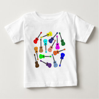 Camiseta De Bebé Arco iris del Ukulele