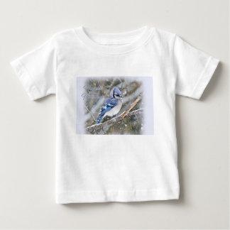 Camiseta De Bebé Arrendajo azul en día de fiesta del navidad de la