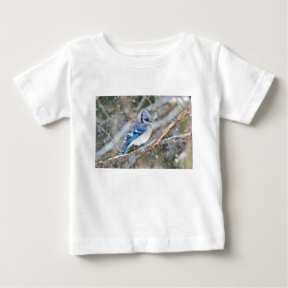 Camiseta De Bebé Arrendajo azul en una nevada