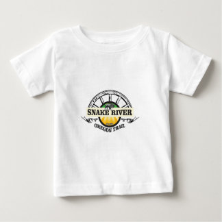 Camiseta De Bebé arte amarillo del río Snake