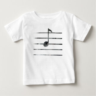 Camiseta De Bebé Arte de la nota de la música