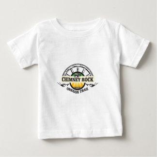 Camiseta De Bebé arte del amarillo de la roca de la chimenea
