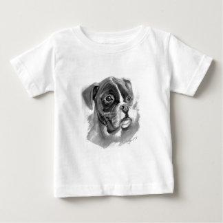 Camiseta De Bebé Arte del perro del boxeador