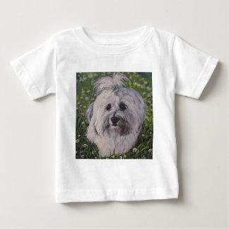 Camiseta De Bebé Arte hermoso del perro de Havanese