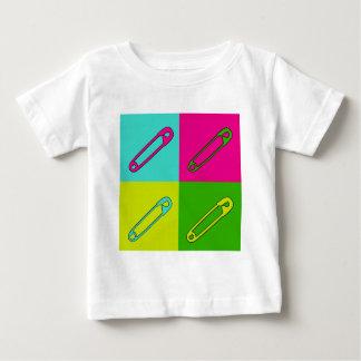 Camiseta De Bebé Arte moderno brillante de los pernos de seguridad