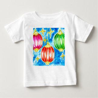 Camiseta De Bebé Arte oriental de las linternas