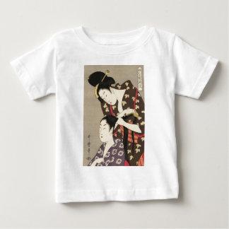 Camiseta De Bebé Arte para mujer de Utamaro Yuyudo Ukiyo-e de la