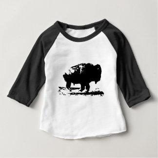 Camiseta De Bebé Arte pop corriente del bisonte del búfalo