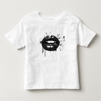 Camiseta De Bebé Artista de maquillaje elegante del beso de la moda