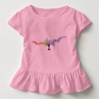 Camiseta De Bebé Árvore de borboletas coloridas