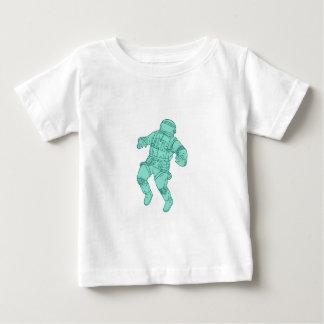Camiseta De Bebé Astronauta que flota en el dibujo del espacio