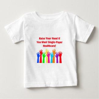Camiseta De Bebé Aumente su mano para la atención sanitaria del