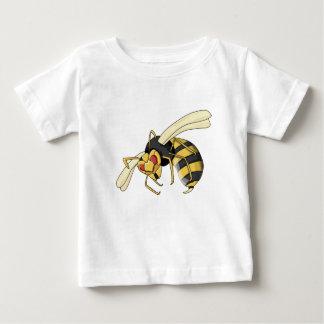 Camiseta De Bebé avispón negro y amarillo del dibujo animado