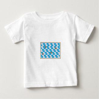 Camiseta De Bebé Azul, modelo bávaro blanco