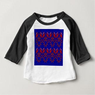 Camiseta De Bebé AZUL ROJO ETHNO del eco de los elementos del