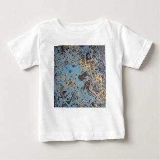 Camiseta De Bebé Azul y oro abstractos