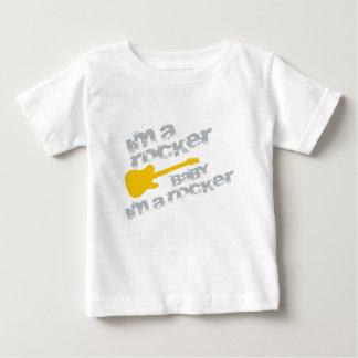 Camiseta De Bebé BabyImARocker.png