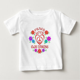 Camiseta De Bebé Baile de estorbo del amor de la paz