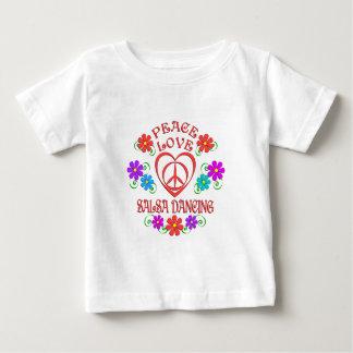 Camiseta De Bebé Baile de la salsa del amor de la paz