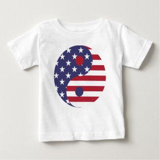 Camiseta De Bebé Balanza del asiático del arte abstracto de la