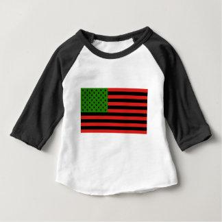 Camiseta De Bebé Bandera afroamericana - negro y verde rojos