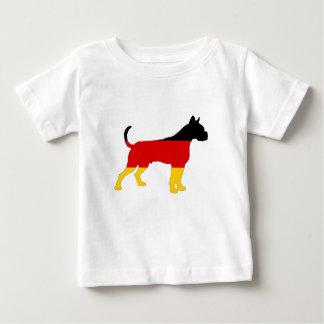 Camiseta De Bebé Bandera alemana - boxeador